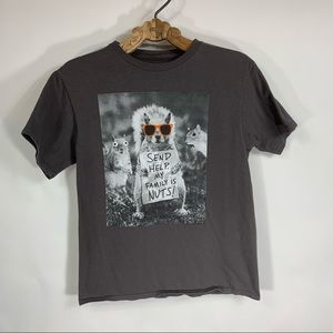Squirrel Graphic T Shirt Sz Small XS